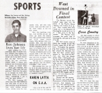 Ron Johnson - Smoke Signals Sports - December, 1969